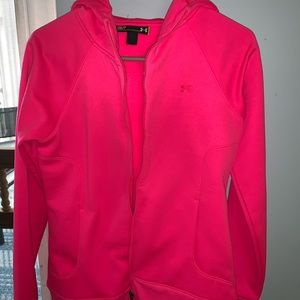 UNDER ARMOR ZIP HOODIE BRIGHT PINK